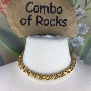 Vintage Napier Chunky Gold Toned Collar Necklace